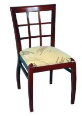 Anderson Wooden Cross Back Side Chair with Upholstered Seat